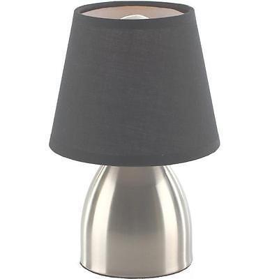 Lampe Tactile 3 intensités de chevet pied en métal   Déco Bureau Luminaire Gris