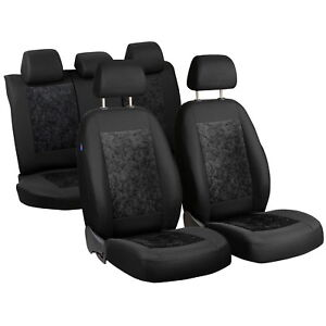 Black-Velour-Seat-Covers-Nissan-Sunny-Car-Seat-Cover-Set