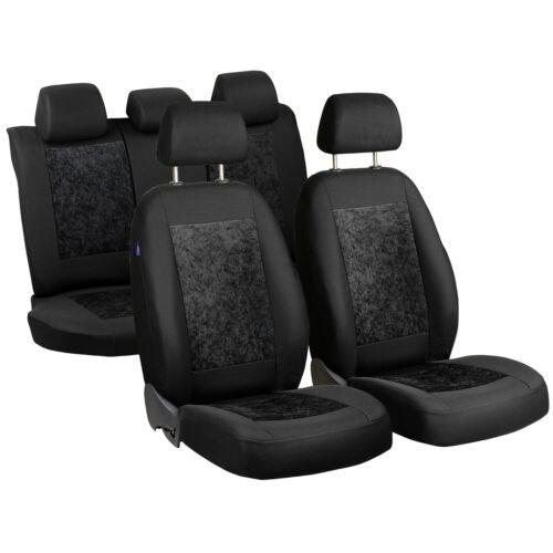 Negro gamuza fundas para asientos Ford Kuga asiento del coche referencia set