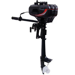 New-2-Stroke-3-5HP-Heavy-Duty-Outboard-Motor-Boat-Engine-w-Water-Cooling-System
