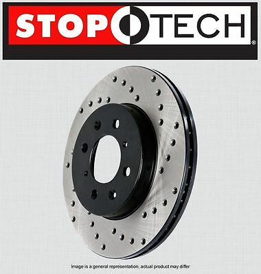 LEFT /& RIGHT FRONT Stoptech SportStop Cross Drilled Brake Rotors STCDF34048