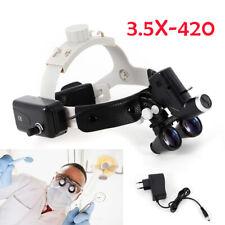 Dental 35x Surgical Binocular Loupes Medical Magnifier Led Head Light Headband