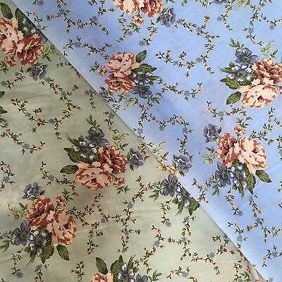 Quilting Fabric Orange /& Yellow Primulas Flowers Cream BG FQs 100/% CottonOF14