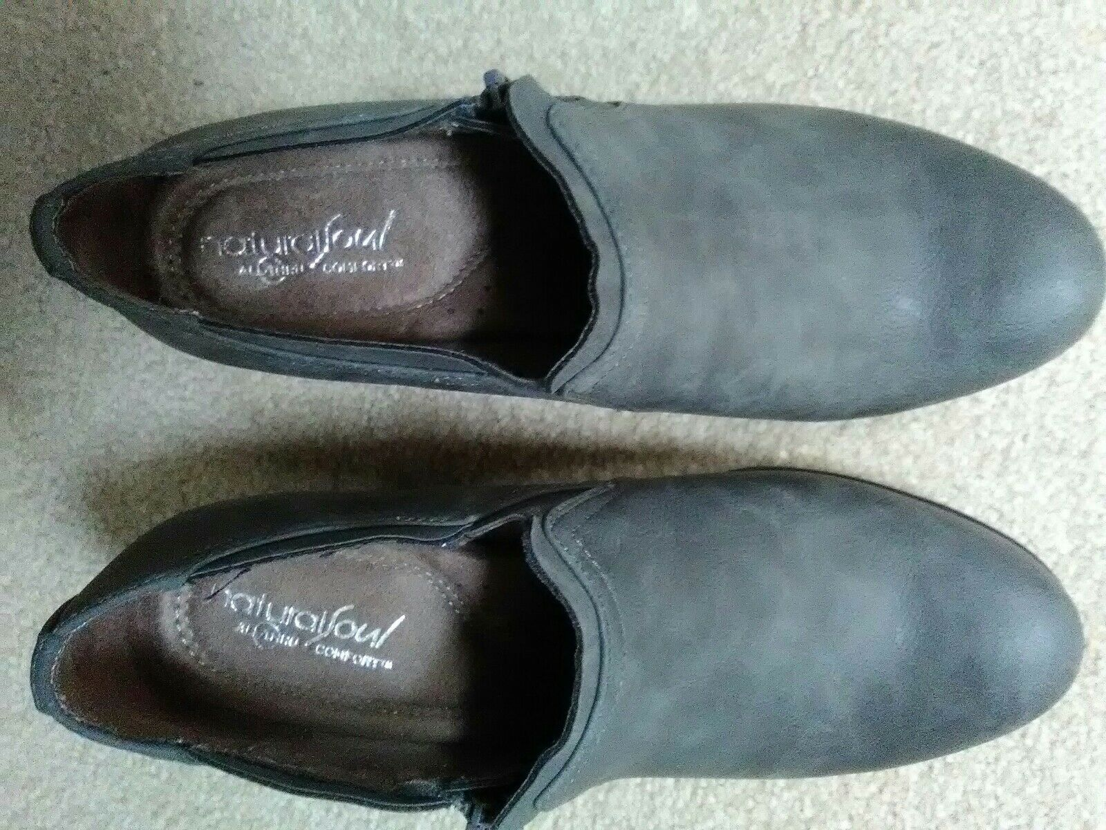 Grey swade booties 7.5 leather