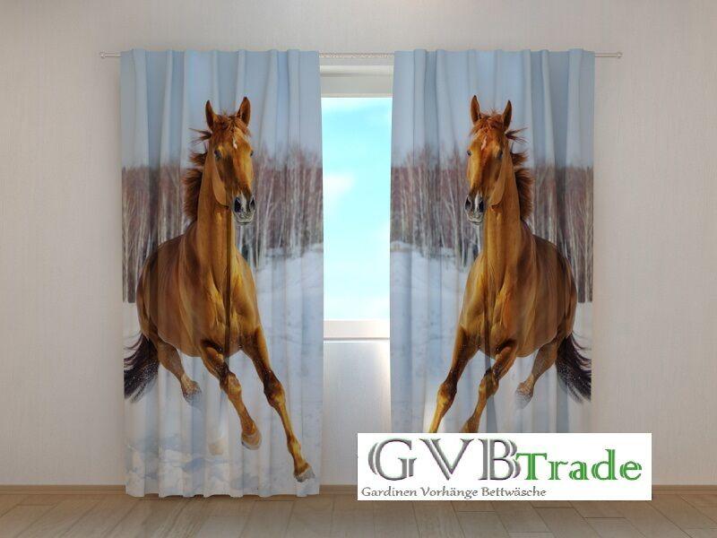 Fotogardinen  Pferde  Fotovorhang Vorhang Gardinen 3D Qualität Bild, Auf Maß | Deutschland München