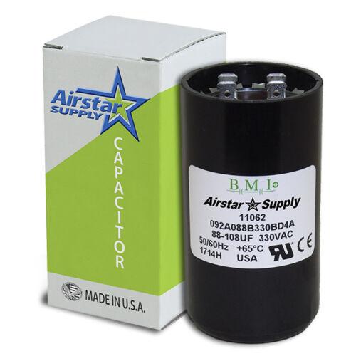 108-130 uF x 330 VAC • BMI # 092A108B330CE7A Motor Start Capacitor • USA