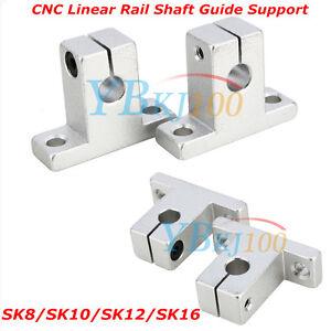 Durable-2Pcs-SK8-10-12-16-Bearing-CNC-Aluminum-Linear-Rail-Shaft-Guide-Support