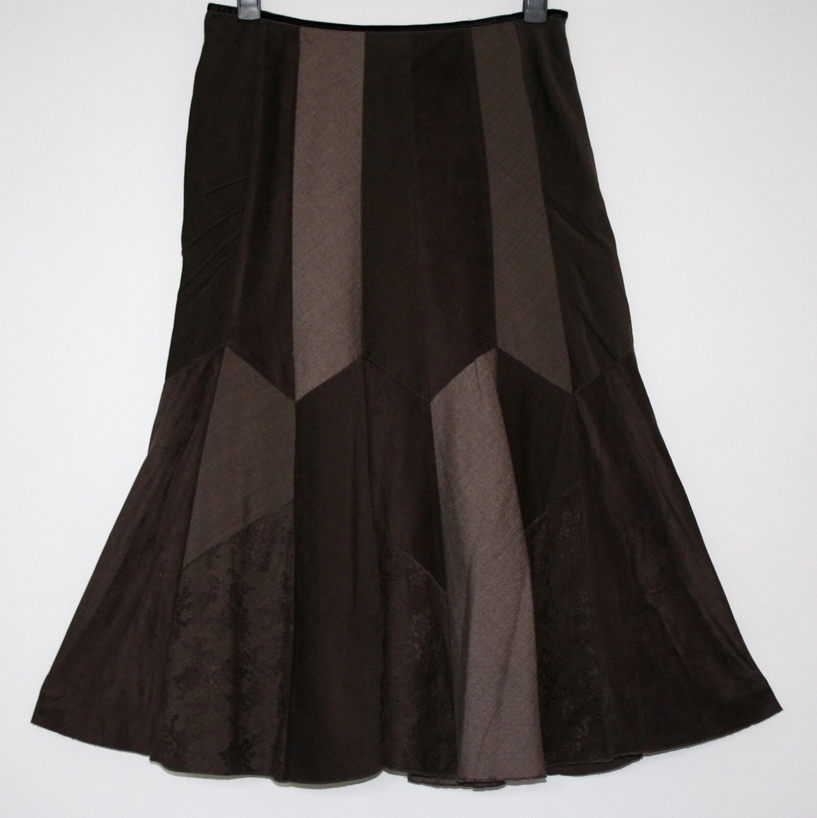 PER UNA GORGEOUS MIXED FABRIC SWISHY SKIRT SIZE  16 WORN TWICE
