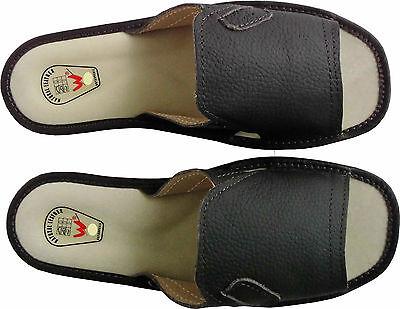 Hausschuhe - Pantolette Gr.41 *Echt LEDER* Bequeme (Made in Poland 27-1-3-11)