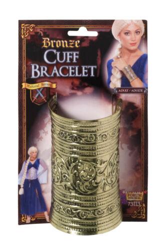 BRONZE CUFF BRACELET FOR FANCY DRESS PARTY ACCESSORY