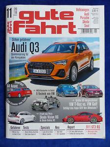 Intelligent Vw Audi Magazin Gute Fahrt 11/2018 Auto & Verkehr Audi Q3 Porsche 911 Gt3 Rs Seat Leon Cupra SchöNe Lustre
