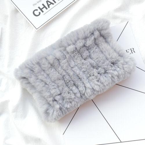 Schal Schals Real Rex Kaninchenfell Ring Kutte Stirnband Hals wärmer elastisch