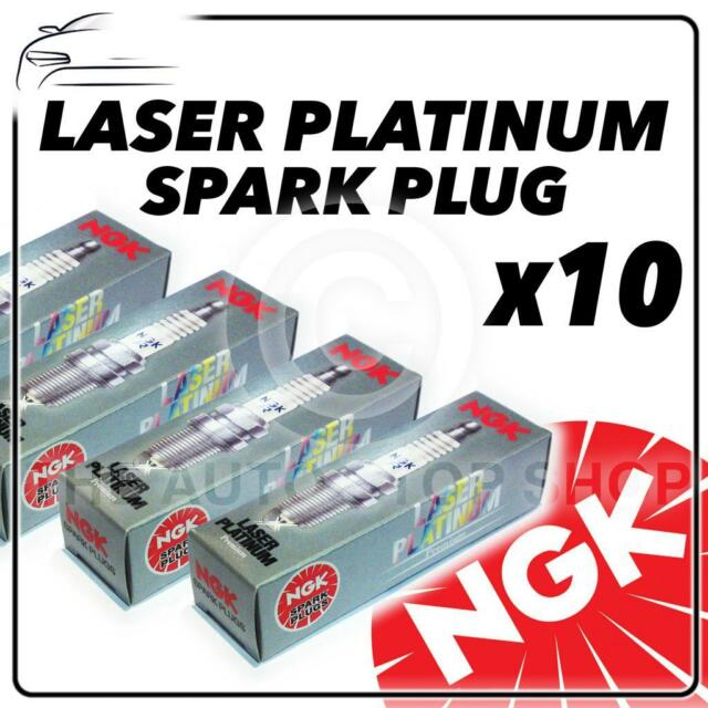 10x NGK SPARK PLUGS Part Number ZFR6BP-G Stock No. 1748 New Platinum SPARKPLUGS