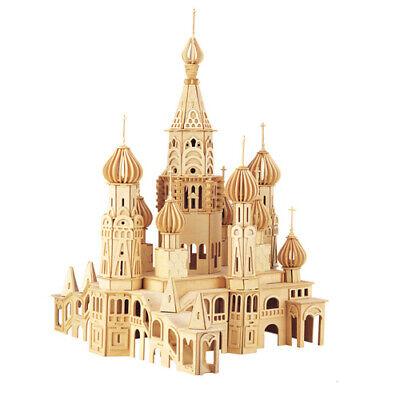 Erfinderisch St. Petersburg Kirche 3d Holzbausatz Holzpuzzle Russland Steckpuzzle Bauwerk
