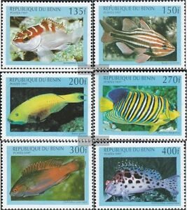Benin 978-983 Mint Never Hinged Mnh 1997 Marine Fish Stamps