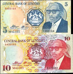 P-9 1989 Lesotho 2 Maloti banknotes Original,UNC