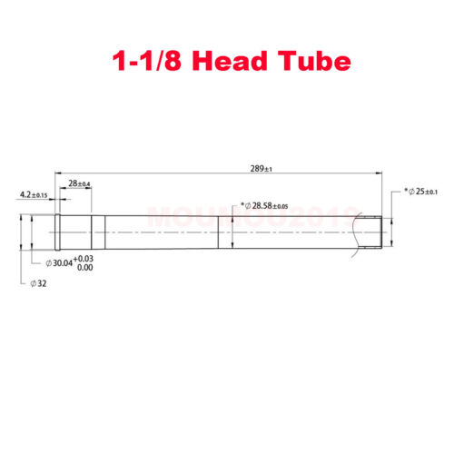 """1-1//2/"""" To 1-1//8/"""" Straight//Tapered Tube For Rockshox Bicycle Front Fork Accessory"""