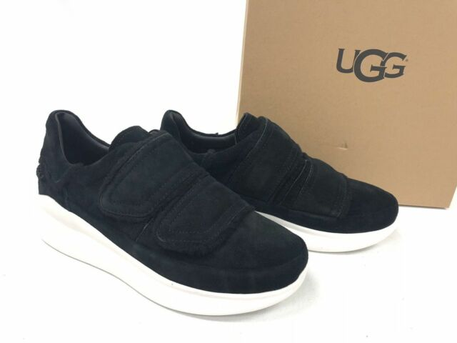 69d39693bb0 UGG Ashby Spill Seam Black Suede Fashion SNEAKERS Women US 7.5