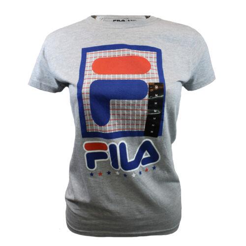 L FILA Women/'s TShirt FILA Axis Graph Sports Athletic Heather Grey XS S XL M