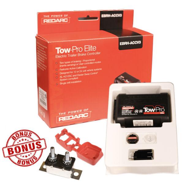REDARC Tow-Pro Elite V3 Brake Controller EBRH-ACCV3 Inc 30A Circuit Breaker