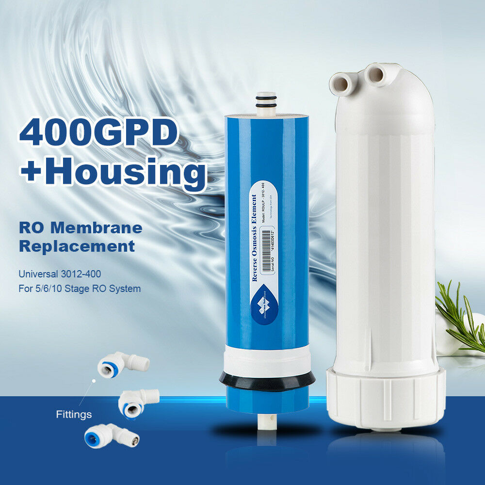 Reverse Osmosis Filter 400GPD Membrane Fittings RO System Compatibility 3012 NSF