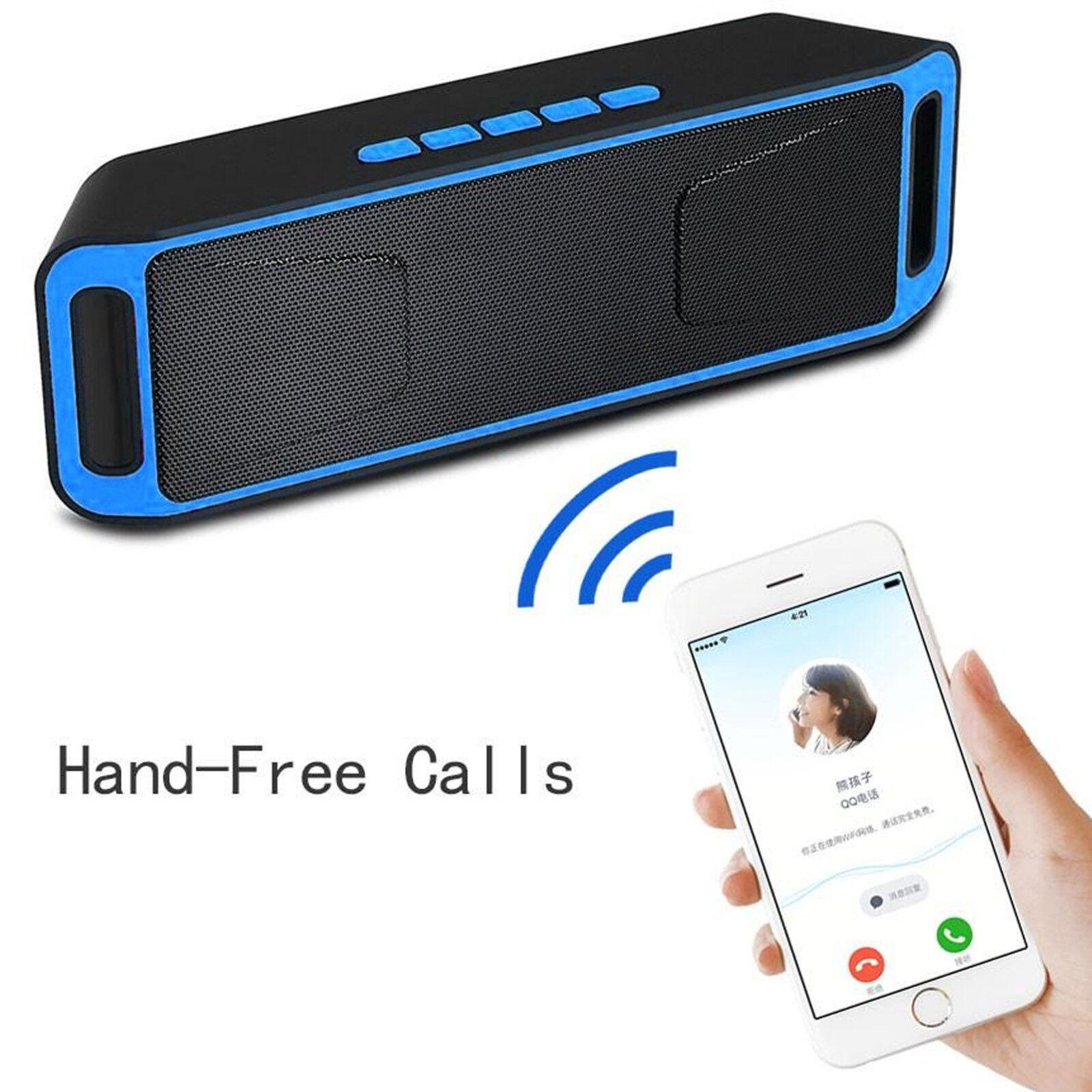 Portable Wireless Bluetooth Speaker Waterproof Bass USB/TF/AUX MP3 Radio Playe R 4