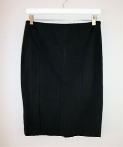 DANNII-MINOGUE-Brand-Black-Panelled-Pencil-Skirt-Size-12-BNWT-SV40