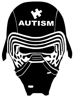 Starwars Kylo REN Rise Of Skywalker autism Helmet DECAL CAR Truck VINYL STICKER