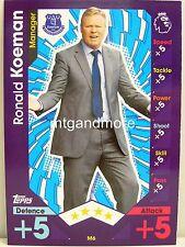 Match Attax 2016/17 Premier League -  M6 Ronald Koeman - Manager