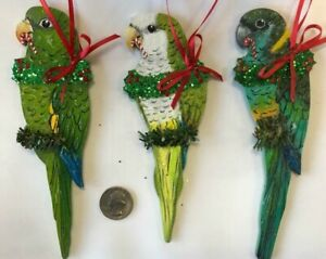 Details about Parrot Christmas Ornament Canary-Winged Parakeet Quaker  Mallee Ringneck Monk
