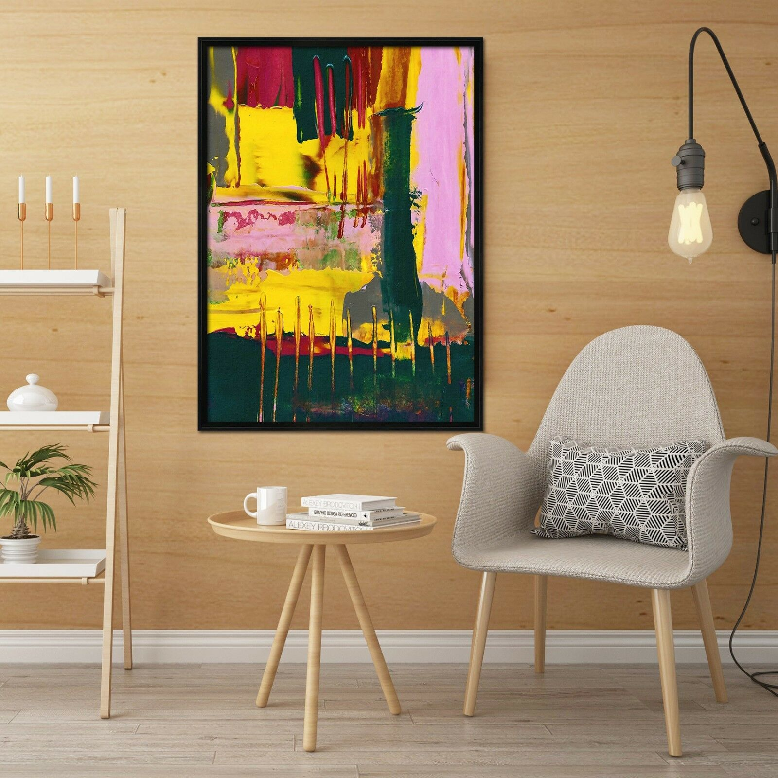 3D Graffiti Abstract 3 Framed Poster Home Decor Print Painting Art AJ WALLPAPER