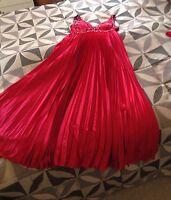 ❤️ Abendkleid Kleid lang rot Ballkleid ABI-Kleid Hochzeit Gr. 42 mit Stola ��