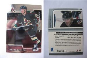 2001-02-BaP-Signature-121-Lemieux-Claude-BECKETT-PROMO-RARE-HOT-coyotes