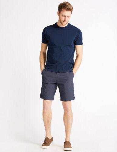 """Marks Spencer M/&S Big /& Tall Cotton controllato Pantaloncini Chino Blu Scuro W 46/"""" 48/"""" 50/"""""""