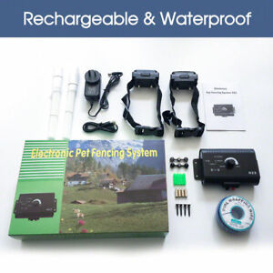 Waterproof-Rechargeable-Invisible-2-dog-Electric-Fence-System-Pet-Containment
