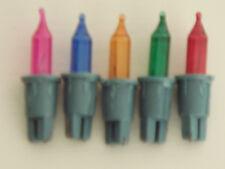 Lot 5 ampoules rechange 12V multicolores pour guirlandes de Noël 20 lampes