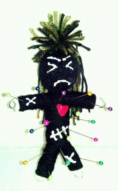 Authentic Pissy Voodoo Doll real 7 pins guide new orleans Karma string hoodoo