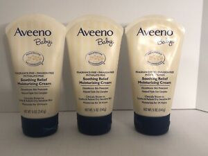Aveeno Baby Soothing Relief Moisture Cream, 5 Oz. Exp 03&04/2020