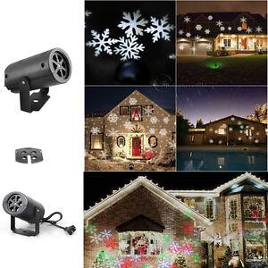1x flocon neige laser paysage projecteur lampe d cor xmas led lampe no l jardin ebay for Projecteur laser neige