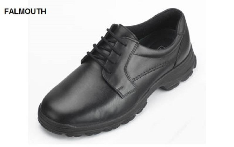 DB zapatos FALMOUTH GIBSON IN LACE UP LEATHER zapatos IN GIBSON Negro, (4E FIT) EXTRA WIDE b51a0a