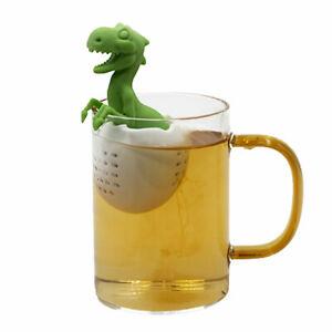 KE_ Reusable Cute Silicone Dinosaur Tea Ball Strainer Mesh Loose Leaf Infuser
