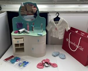American Girl Doll 2010-2014 RETIRED Bathroom Vanity (Used ...