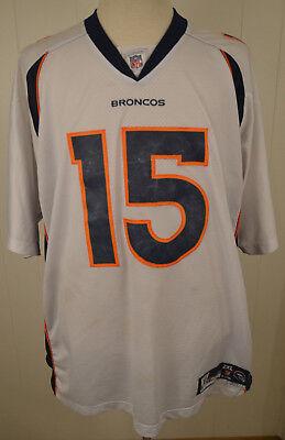 Authentic Reebok Denver Broncos Jersey #15 Brandon Marshall NFL Jersey 2XL White   eBay