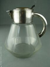QUIST antike Karaffe Kalte Ente Kristallglas versilberte Montur