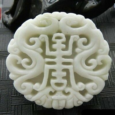 China Natural hand engraving lantian jade butterfly lucky Amulet Pendant