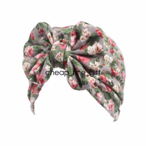 Baby Girls Tie Bowknot Indian Hat Newborn Dot Print Elastic Hedging Cap Headwear