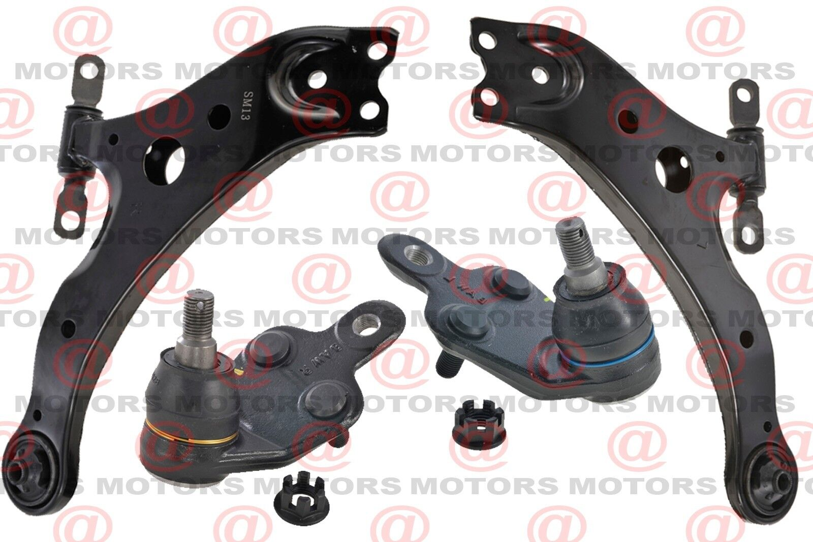 for toyota camry 2002 2012 front left right lower control arms with ball joints. Black Bedroom Furniture Sets. Home Design Ideas