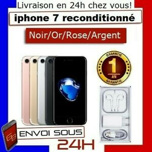 APPLE-IPHONE-7-32-GO-128GO-BON-ETAT-ROSE-ARGENT-NOIR-OR-DEBLOQUE-RECONDITIONNE