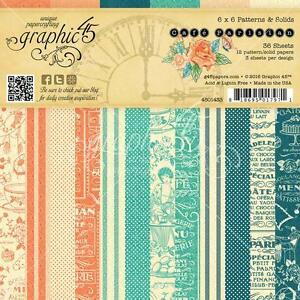 Graphic-45-CAFE-PARISIAN-6x6-Paper-Pad-Scrapbooking-36-Double-Sided-Sheets-Paris