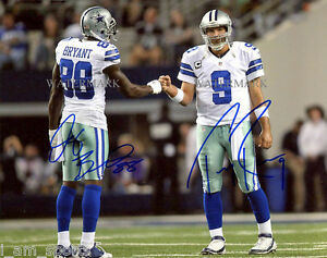 Details About Dez Bryant Tony Romo Signed Dallas Cowboys 8x10 Reprint Photo Rp